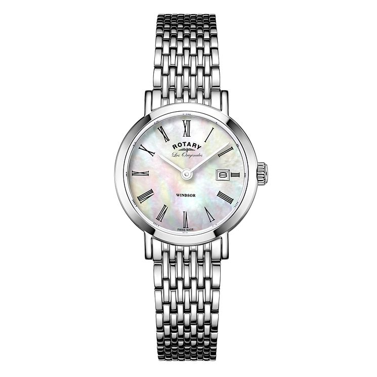 Rotary Windsor Ladies' Stainless Steel Bracelet Watch - Product number 5220386