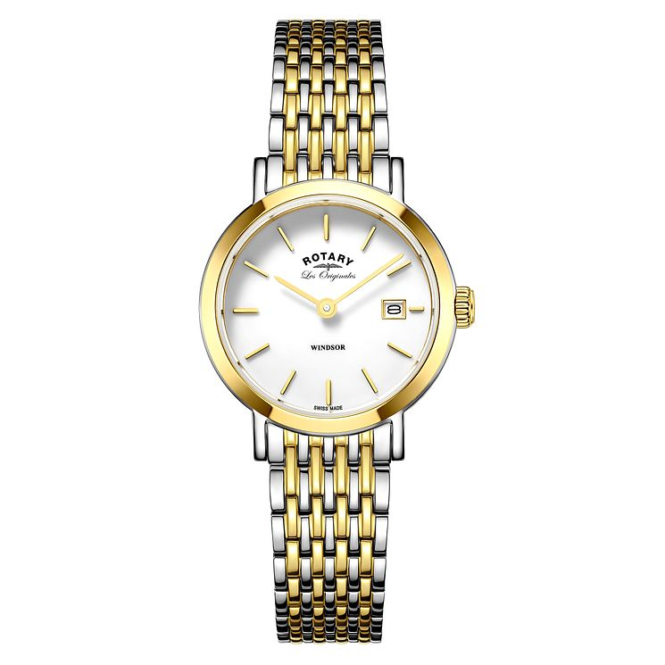 Rotary Windsor Ladies' Two Colour Bracelet Watch - Product number 5220394