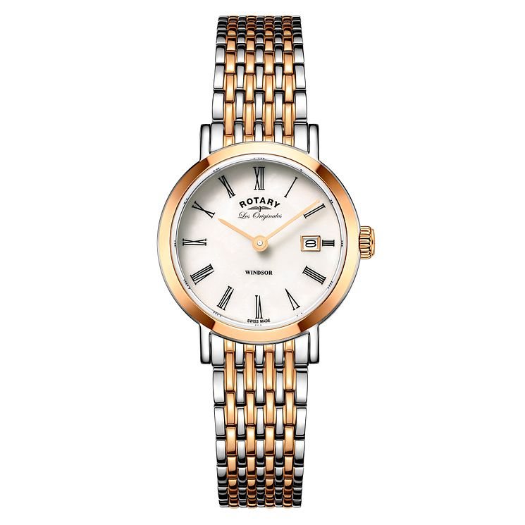 Rotary Windsor Ladies' Two Colour Bracelet Watch - Product number 5220408