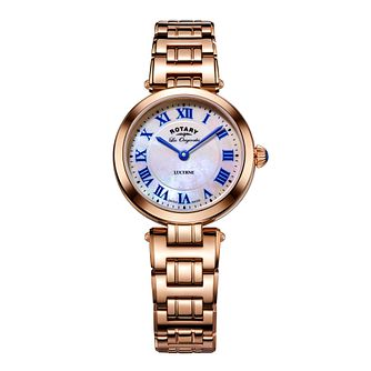 Rotary Lucerne Ladies' Rose Gold Plated Bracelet Watch - Product number 5220432