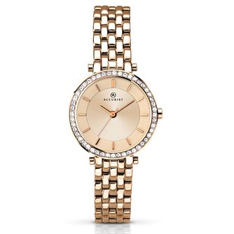 Accurist Ladies' Rose Gold Plated Bracelet Watch - Product number 5220807