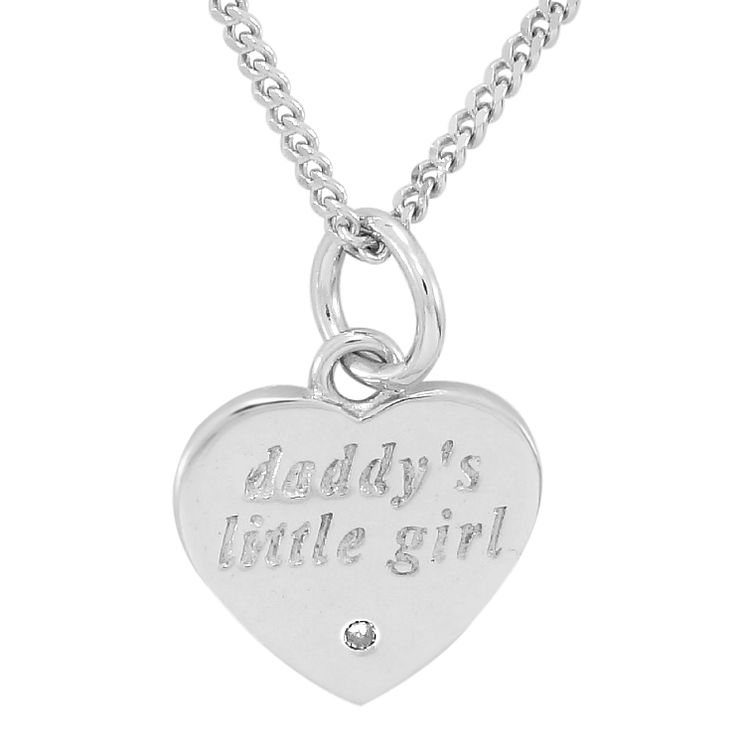 Diamond Wishes Sterling Silver 'Daddy's little girl' Pendant - Product number 5221013