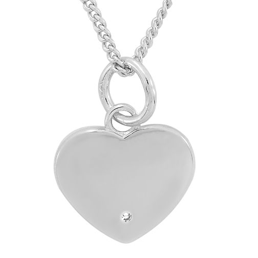 Diamond Wishes Sterling Silver Diamond-set Heart Pendant - Product number 5221382