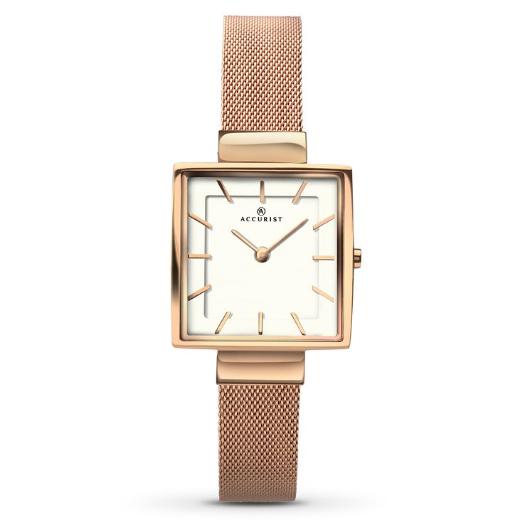 Accurist Ladies' Rose Gold-Plated Mesh Bracelet Watch - Product number 5221447