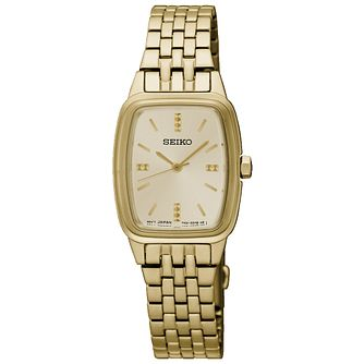 Seiko Conceptual Ladies' Gold Plated Bracelet Watch - Product number 5222230