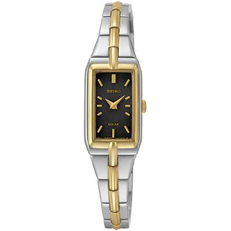 Seiko Conceptual Solar Ladies' Two Colour Bracelet Watch - Product number 5222249