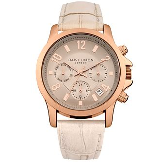 Daisy Dixon Ladies' Nude Leather Strap Watch - Product number 5223288