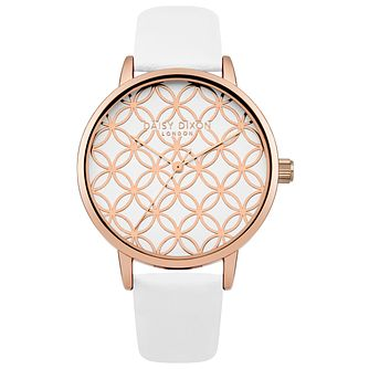 Daisy Dixon Ladies' White Leather Strap Watch - Product number 5223814