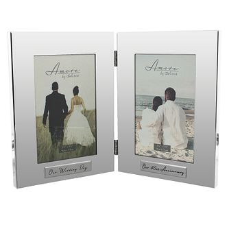 "Amore Silver-Plated Wedding & 40th Anniversary Frame  4""x6"" - Product number 5234859"
