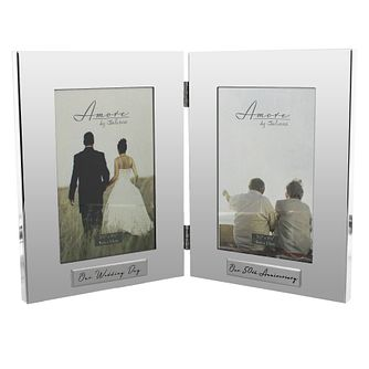 "Amore Silver-Plated Wedding & 50th Anniversary Frame  4""x6"" - Product number 5234867"