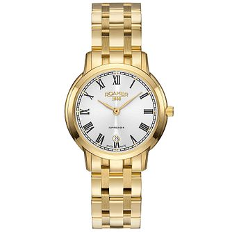 Roamer Super Slender Ladies' Gold Plated Bracelet Watch - Product number 5235227