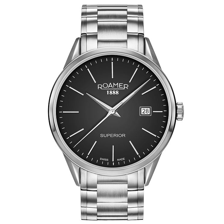 Roamer Superior 3H Men's Stainless Steel Braclet Watch - Product number 5235359