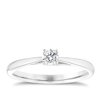 9ct white gold 0.25ct diamond ring - Product number 5237866