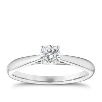 9ct white gold 1/3ct diamond solitaire ring - Product number 5238250