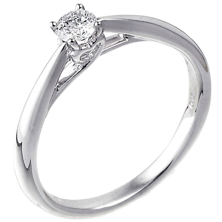 9ct white gold 0.15ct diamond solitaire ring - Product number 5238714