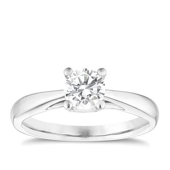 9ct white gold 0.66ct solitaire diamond ring - Product number 5239192