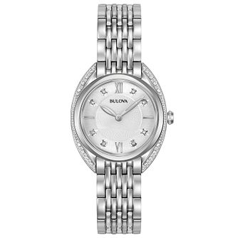 Bulova Diamonds Ladies' Stainless Steel Bracelet Watch - Product number 5239834