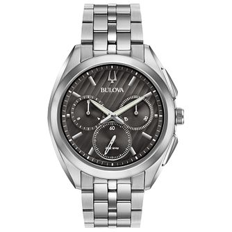 Bulova Curv Men's Chronograph Stainless Steel Bracelet Watch - Product number 5239869