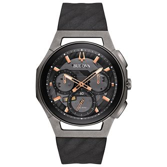 Bulova Curv Men's Chronograph Stainless Steel Strap Watch - Product number 5239966