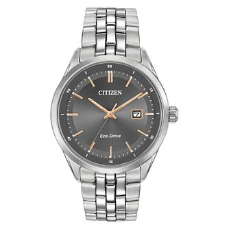 Citizen Eco-Drive Men's Stainless Steel Bracelet Watch - Product number 5240212