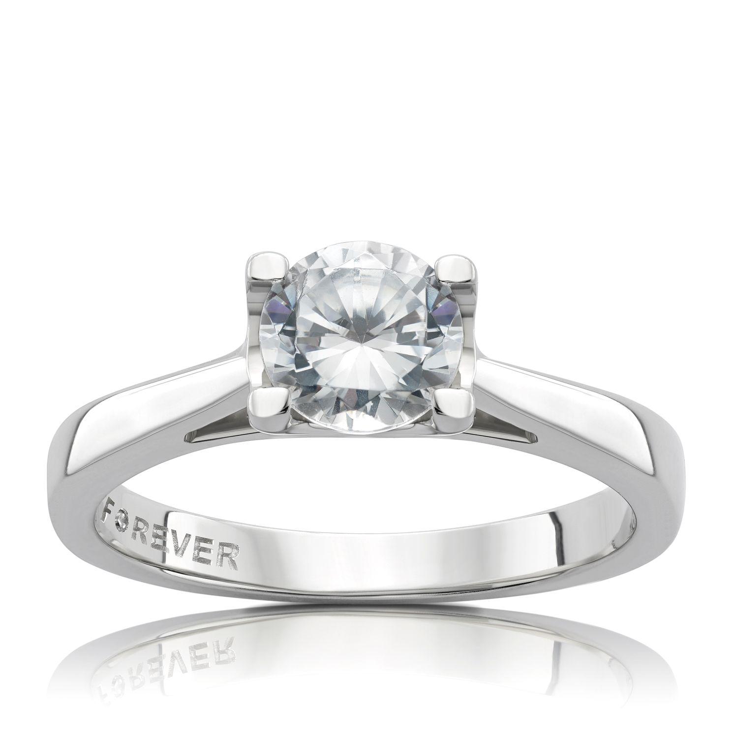 Platinum 1 Carat Forever Diamond Ring