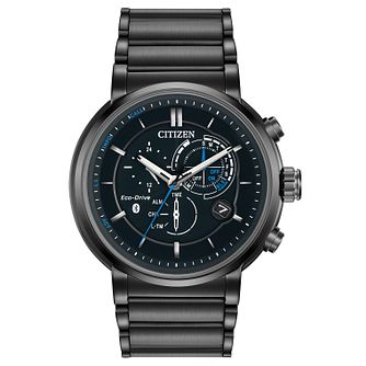 Citizen Eco-Drive Proximity Men's Black Steel Bracelet Watch - Product number 5241812