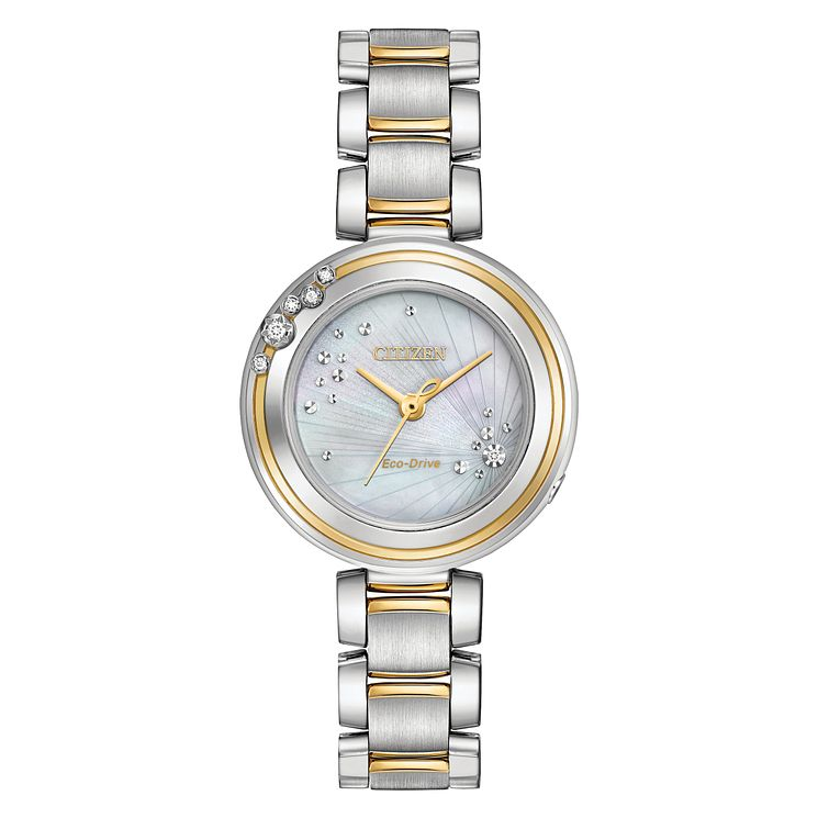 Citizen Eco-Drive L-Carina Ladies' Two Colour Bracelet Watch - Product number 5241855
