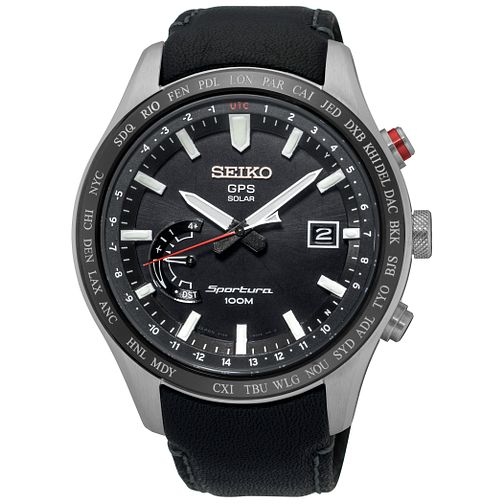 Seiko Sportura Men's Stainless Steel Strap Watch - Product number 5242185