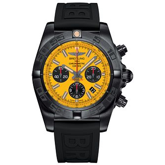 Breitling Chronomat 44 Black Steel Men's Strap Watch - Product number 5242916