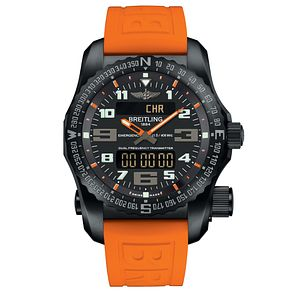 Breitling Professional Emergency Men's Orange Strap Watch - Product number 5242983