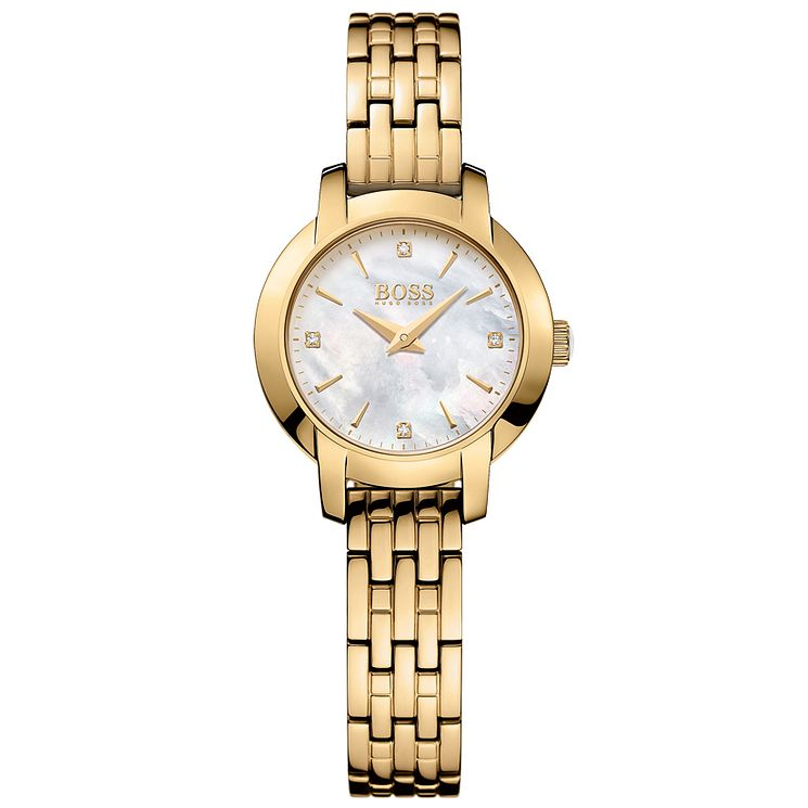 Hugo Boss Ladies' Gold Plated Bracelet Watch - Product number 5245362