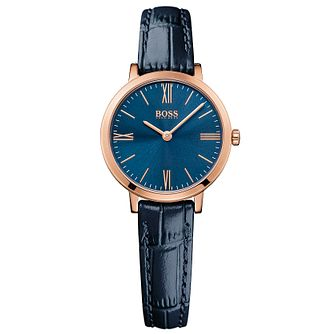 Hugo Boss Ladies' Rose Gold Plated Strap Watch - Product number 5245443