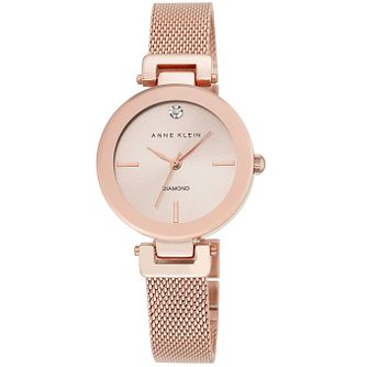 Anne Klein Ladies' Rose Gold-Plated Mesh Bracelet Watch - Product number 5246962