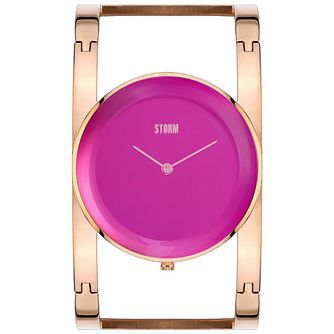 STORM Amiah Ladies' Purple Dial Rose Gold-Plated Watch - Product number 5247136