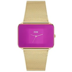 STORM Zila Ladies' Purple Dial Gold-Plated Mesh Strap Watch - Product number 5247144