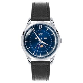 Henry London Gents' Blue Dial Black Leather Strap Watch - Product number 5247543