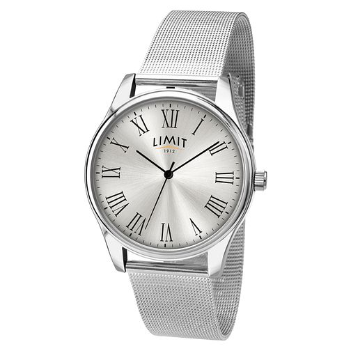 Men's Limit Silver Mesh Bracelet Watch - Product number 5248361