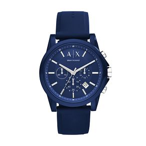 Armani Exchange Gents Blue Silcone Strap Watch - Product number 5249775