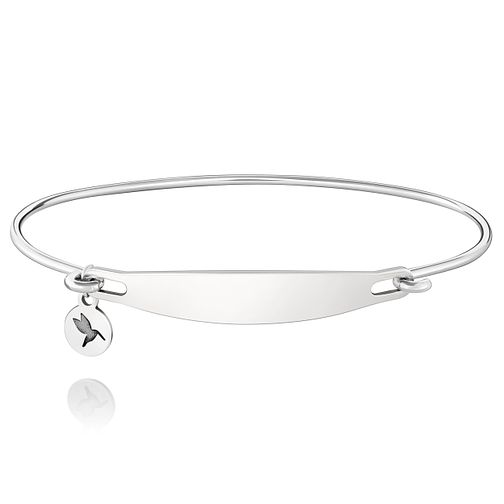 Chamila Sterling Silver Engraveable ID Bangle S/M - Product number 5252245