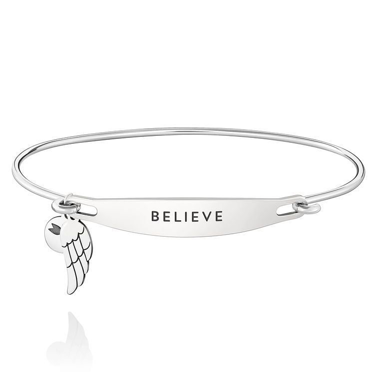 Chamila Sterling Silver Believe ID Bangle M/L - Product number 5252377