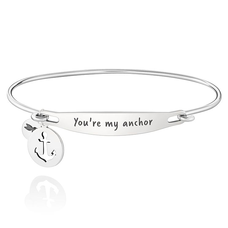 Chamila Sterling Silver You're My Anchor ID Bangle M/L - Product number 5252415
