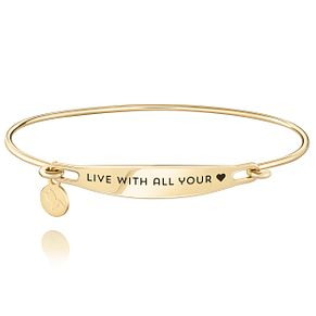 Chamila Live With All Your Heart Gold Plated ID Bangle S/M - Product number 5252563