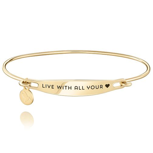 Chamila Gold-Plated Live With All Your Heart ID Bangle M/L - Product number 5252571