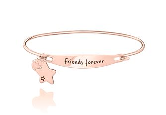 Chamila Friends Forever Rose Gold Electroplate ID Bangle S/M - Product number 5252598