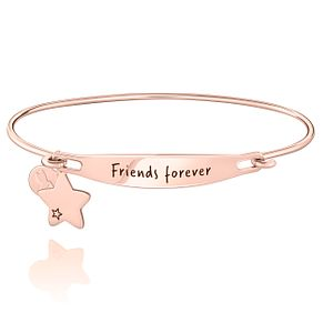 Chamila Friends Forever Rose Gold Electroplate ID Bangle M/L - Product number 5252601