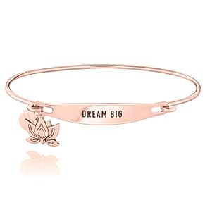 Chamila Rose Gold-Plated Dream Big ID Bangle M/L - Product number 5252652