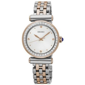Seiko Ladies' Stainless Steel and Rose Gold Bracelet Watch - Product number 5252687