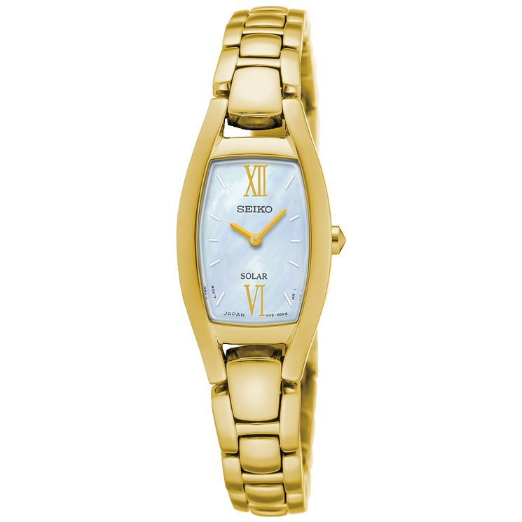 Seiko Solar Ladies' Gold-Plated Bracelet Watch - Product number 5252768