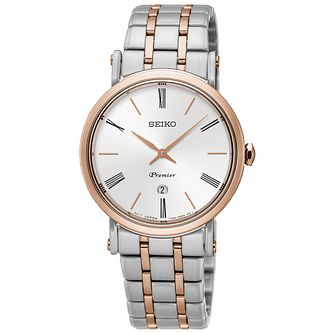 Seiko Premier Ladies' Two Colour Bracelet Watch - Product number 5252792