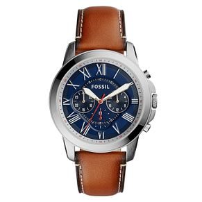 Fossil Men's Chronograph Brown Leather Strap Watch - Product number 5253748